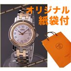 エルメス(クリッパーナクレ)時計 HERMES レディース ピンクゴールド コンビ CL4.221.214/3824