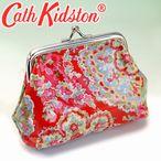 キャスキッドソン 財布 がま口財布 CATH KIDSTON コインケース 229807 PAISLEY RED(ぺイズリー織柄レッド)