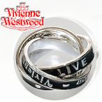 ヴィヴィアンリング(指輪) ヴィヴィアンウエストウッド(Vivienne Westwood) TOO FAST TO LIVE RING シルバー 3連リング Sサイズ