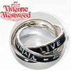 ヴィヴィアンリング(指輪) ヴィヴィアンウエストウッド(Vivienne Westwood) TOO FAST TO LIVE RING シルバー 3連リング Mサイズ