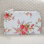 キャスキッドソン Cath Kidston ポーチ Zip Purse Washed Roses Natural White (208970)//ZipPurse-WasRos-NW