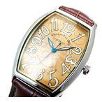 プレゼントに最適!【ALESSANDRA OLLA】アレサンドラオーラ メンズ腕時計(ブラウン文字盤)AO-4550