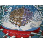 """エルメス【HERMES】 100%シルクスカーフ""""NOEL AU 24 FAUBOURG〜フォーブル24番地のクリスマス"""" ホワイト"""
