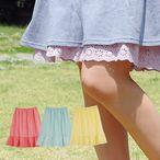 花柄の裾レース♪ナチュラルなペチスカート◆Zootie:たんぽぽレースコットンペチコート