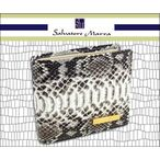 【メンズ財布】Salvatore Marraサルバトレ・マーラ■パイソン革メンズ2つ折財布WT