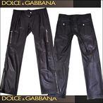 DOLCE&GABBANA【ドルチェ&ガッバーナ】メンズレザーパンツ 5AM LP02 ULCQ 0999 / DGPA-M7