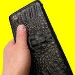 財布『クロコダイル長財布コンチョ2』(黒)